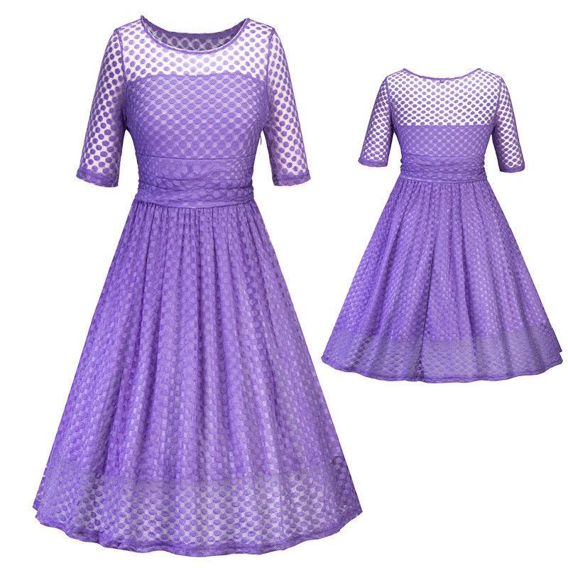 Mujeres Vintage puntos Slim batientes vestido Retro Rockabilly ...