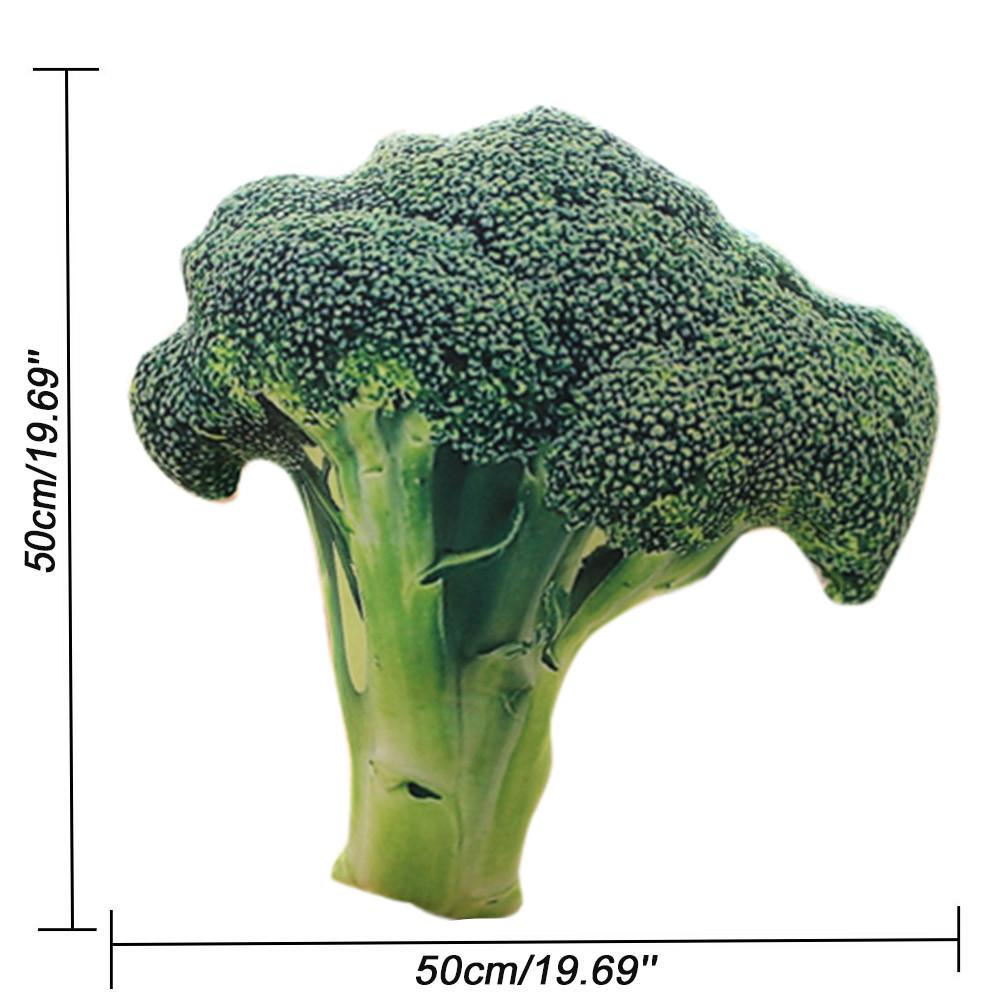 Funny 3D Soft Pillow Plush Cushion Broccoli Seat Green Pads Home Decoration