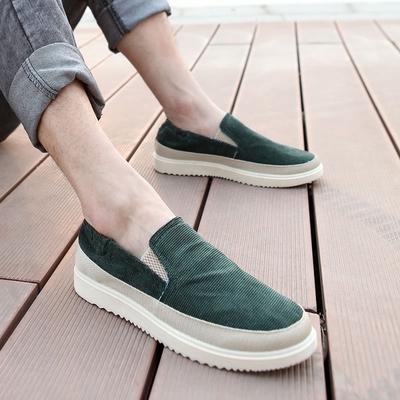Casual Lona Moda Zapato Resorte Slip Coreano Zapatos Mocasín De Hombres Transpirable Calzado Marea dtsQChr