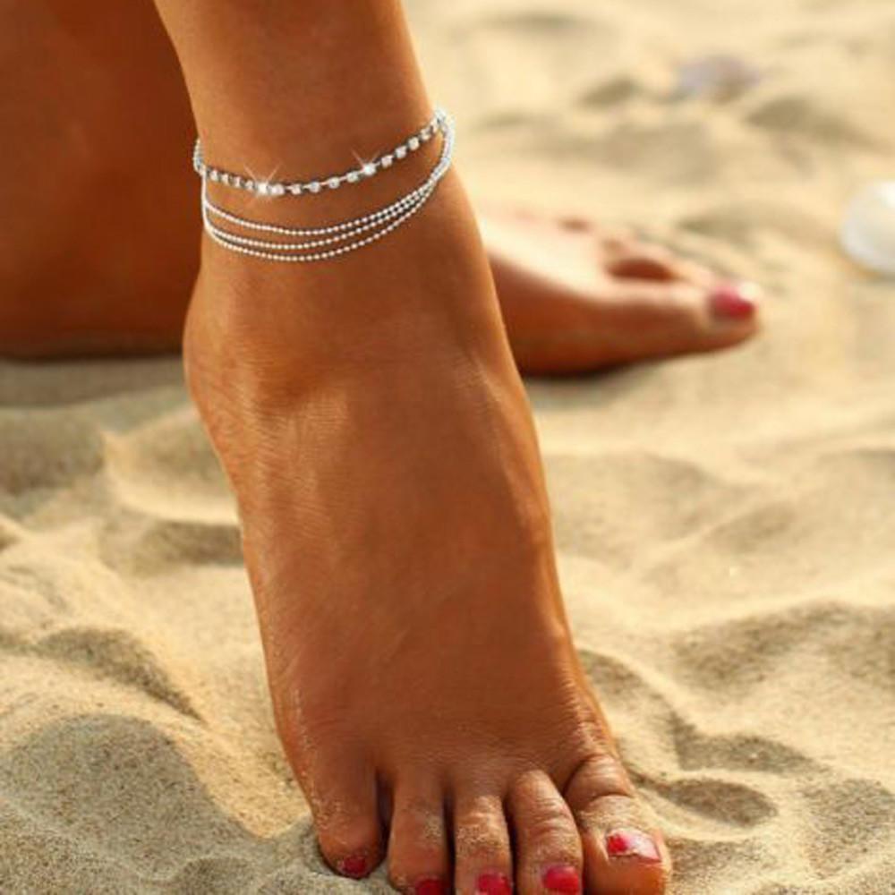 时尚简单女士船锚脚链