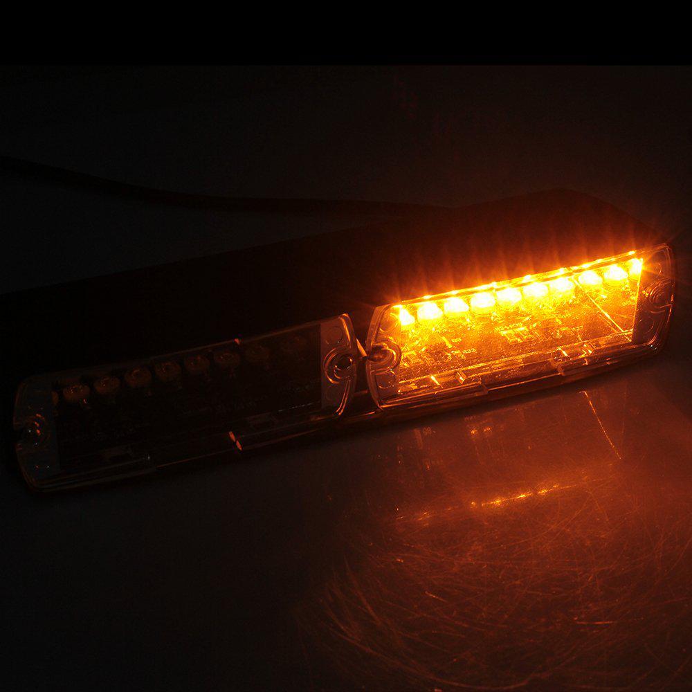 1pc//4pc 4LED Auto KFZ Stroboskop Blitzlicht Warnleuchte LKW Strobe Light Amber