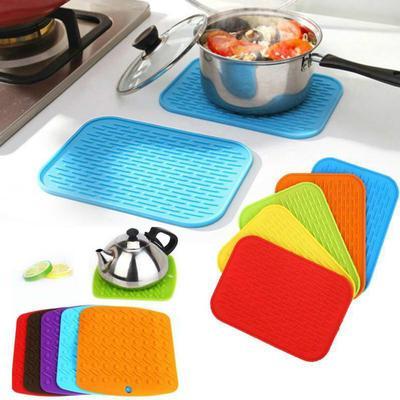 Silicone Holder Mat Kitchen Tray Straightener Heat Non-slip Resistant Mat Hot Y