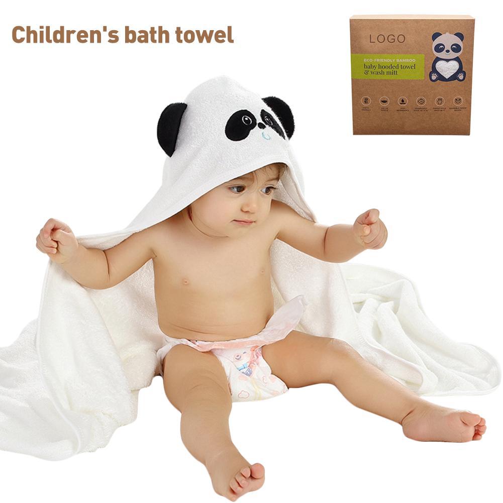 Hot Cotton Sponge Cloth Gloves Cartoon Bath Towel Baby For Kids Wash Towel