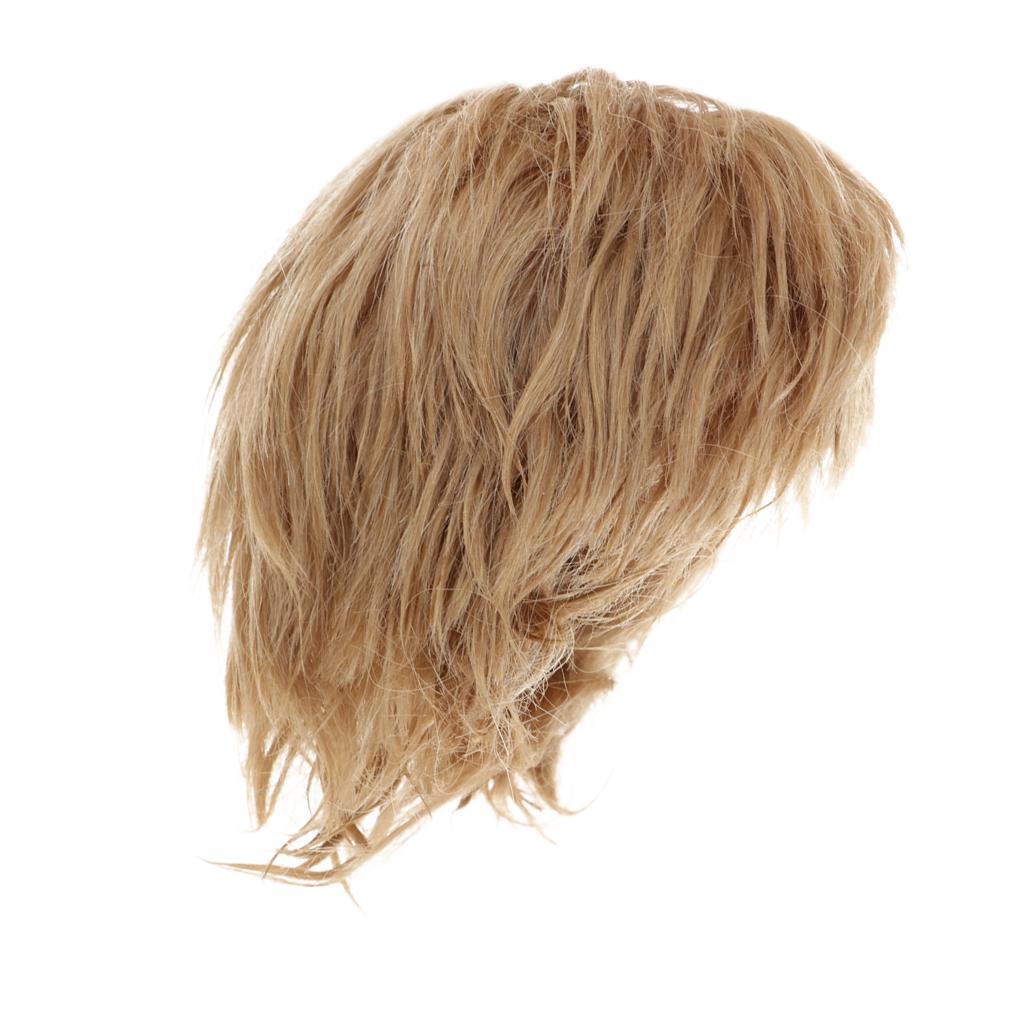 MagiDeal 1//8 BJD Doll Full Wig Long Curly Hair for Dollfie Custom Dark Brown