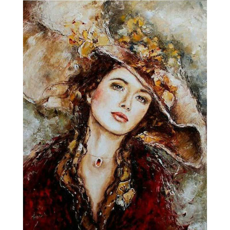 DIY 5D Diamond Embroidery Red Glove Beauty Painting Cross Stitch Home Decor