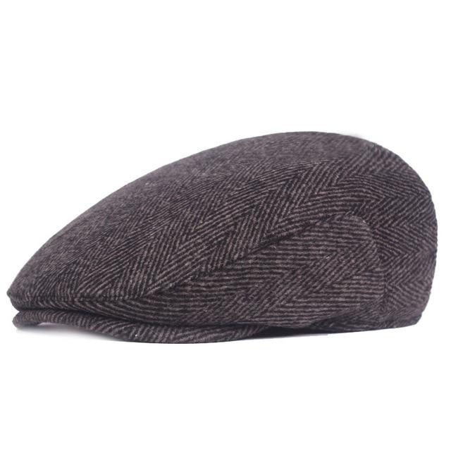 Sombrero boina gorra Tweed espiga país gris para hombres mujeres ... 85f1959a417