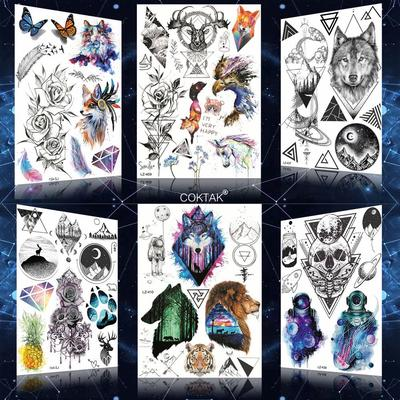 1pc Mandala Flower Temporary Tattoos For Adult Body Art Tatoo Fake Lion Wolf Henna Death Skull Tatoo Buy At A Low Prices On Joom E Commerce Platform