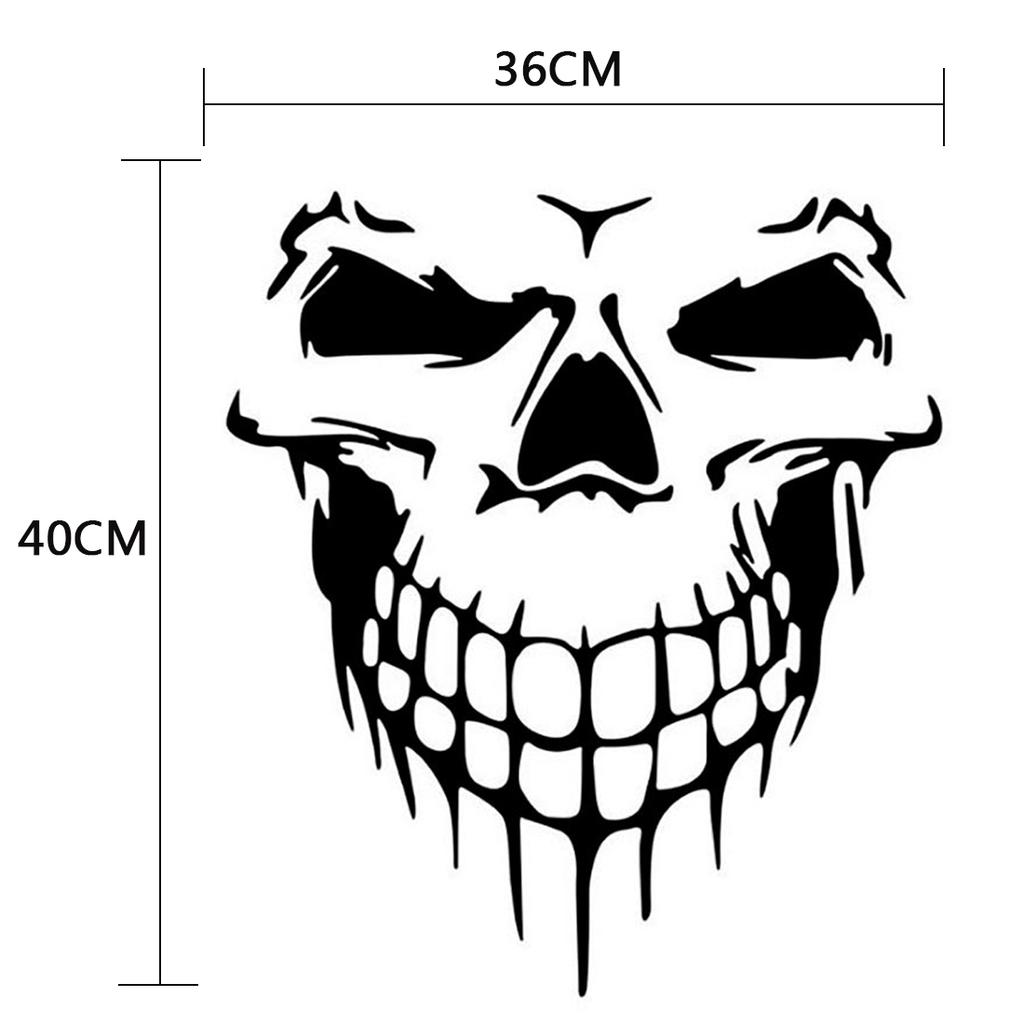 Skull Skeleton Piston Racing Bone Car Truck Window Laptop Vinyl Decal Sticker
