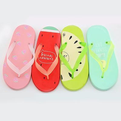 4cd65980036bb Fashion Women Summer Beach Flip Flops Cartoon Fruit Slippers Flat Heel Shoes