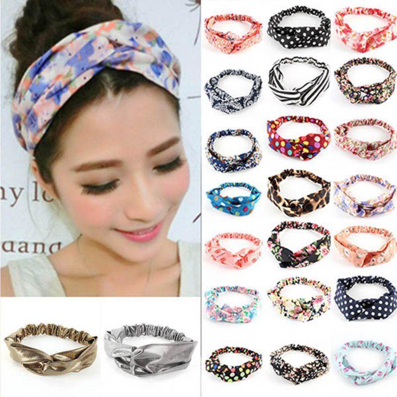 Head Wrap Headband Elastic Hair Band Turban Twist Knot For Women WS
