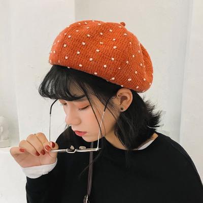 9e01c3ff182a4 Beret Ladies Winter Fashion Little Wool Octagonal Hat Retro Literary Painter  Hat Pumpkin Hat