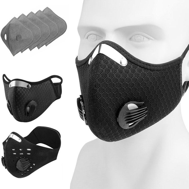 Máscara Rosto a purificação do ar Tampa Anti Poeira Fumaça multi-camada de máscara filtro Boca