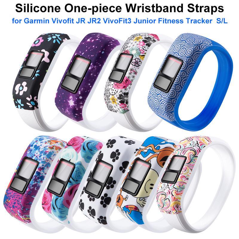 Soft Sports Silicone Wrist Band Bracelet For Garmin Vivofit 3//JR//JR 2 Strap L//S