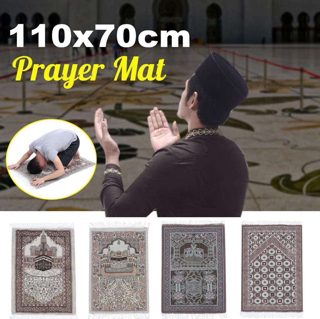 Islamic Muslim Prayer Rug Turkish Carpet Mat Namaz Salat Eid Ramadan Mubarak Man Buy At A Low Prices On Joom E Commerce Platform