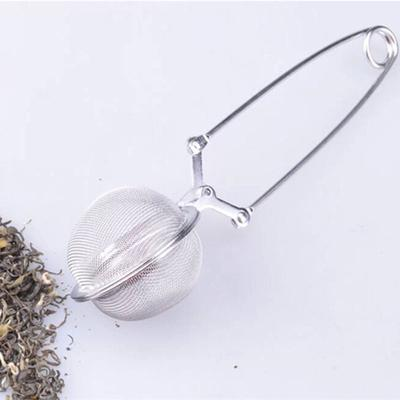 1Pcs Creative Stainless Steel Spoon Tea Ball Herb Mesh Infuser Filter Squeeze Strainer Metal Stainless Steel Handle Spoon