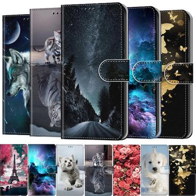 Flip Leather Phone Case For Samsung Galaxy A01 Core A21S A21 M01 M51 Note 20 Ultra Wallet Card Holder Stand Book Style Pouch Cover