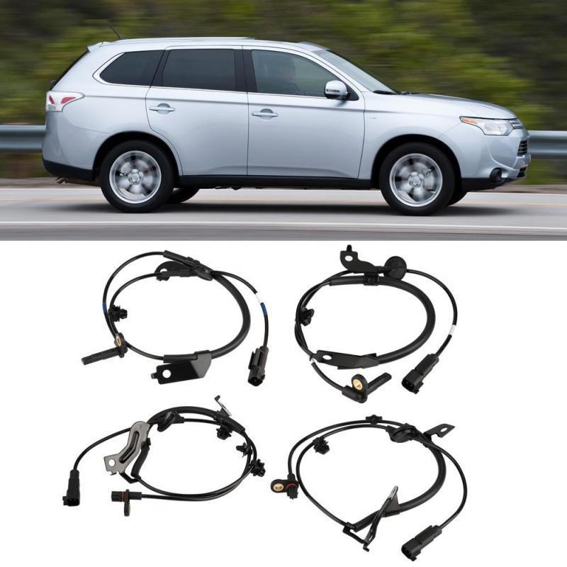 Set of 2 Wheel Speed Sensor Rear Left /& Right Fits Mitsubishi Lancer Outlander