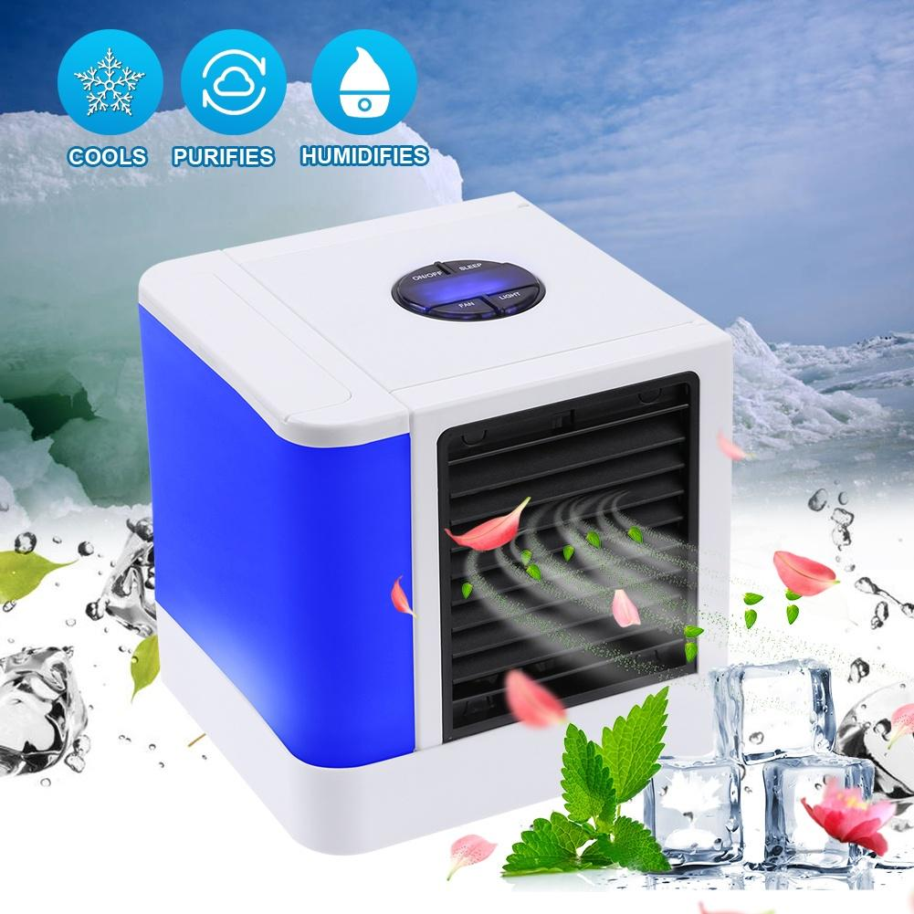 Hogar silencioso El/éctrico Refrigerador de aire port/átil 3 velocidades M/áquina Aire acondicionado individual Refrigeraci/ón por agua Humidificaci/ón Aire acondic Ventilador de aire acondicionado m/óvil