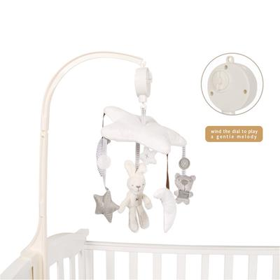 Rotary Baby Cot Mobile Crib Music Rattle Infant Bell Hanging Toy w// Night light