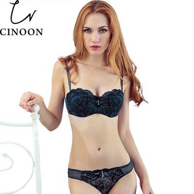 697ec4e833c13 CINOON женщин новых Сексуальное женское белье кружева Push до близких  бюстгальтер и трусики установить вышивка белье