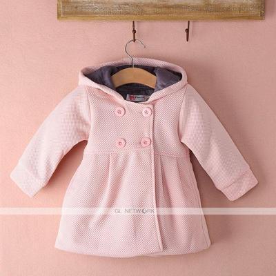 ee045e4bb Toddler kid Fall Winter Horn Button Hooded Baby Girl Winter Warm ...
