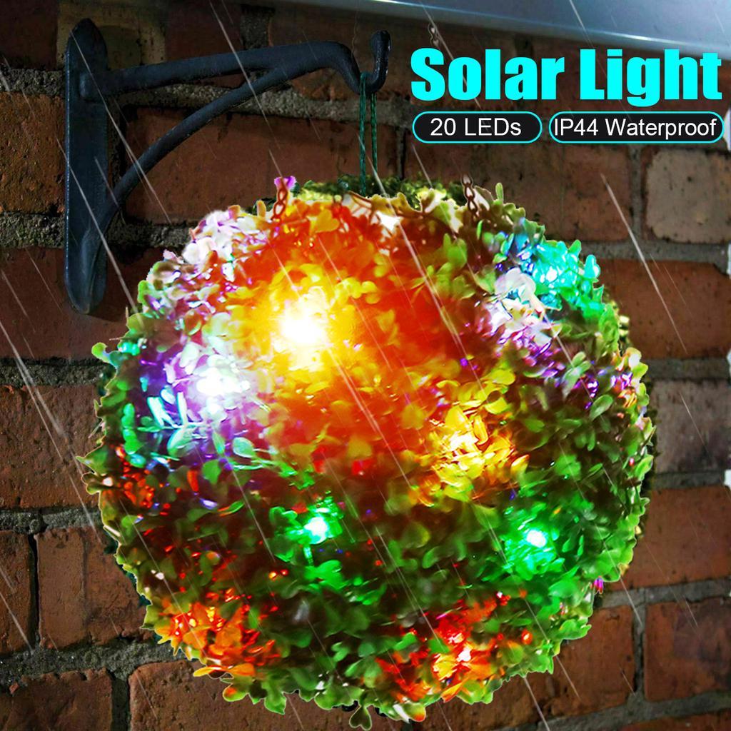 Solar Powered Light Up Topiary Ball Garden Decoration  from img.joomcdn.net