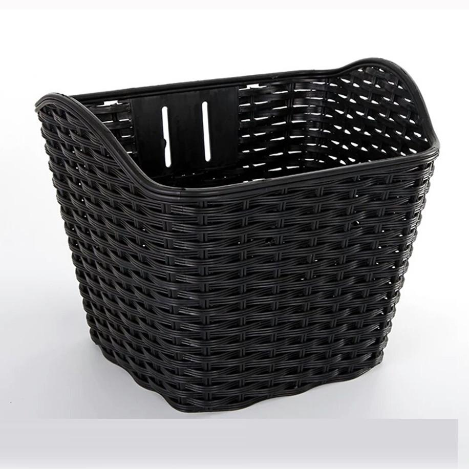Cargo Storage Vegetable Container Bike Bag Bicycle Basket Wicker Outdoor Sports