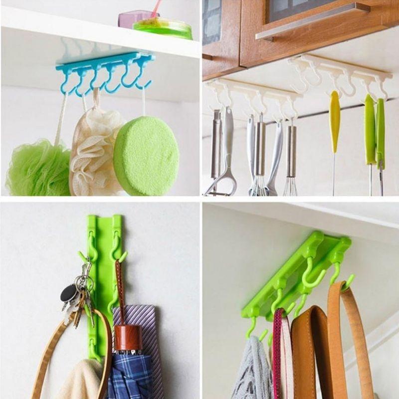 4 Farbe Küchenschrank Schrank Haken Küche Lagerung stark klebrig ...