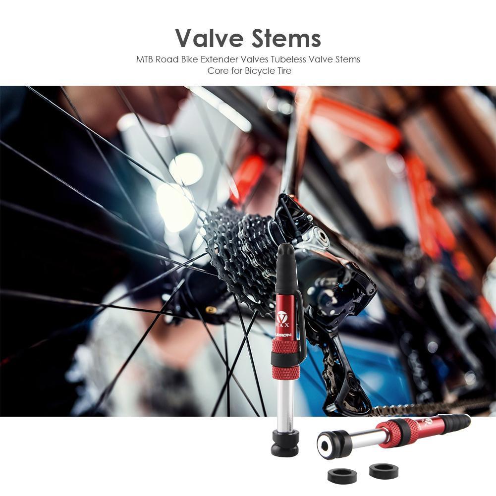 Presta Valve Stems Tubeless Bike bicycle Extender Tire Aluminum Alloy Core