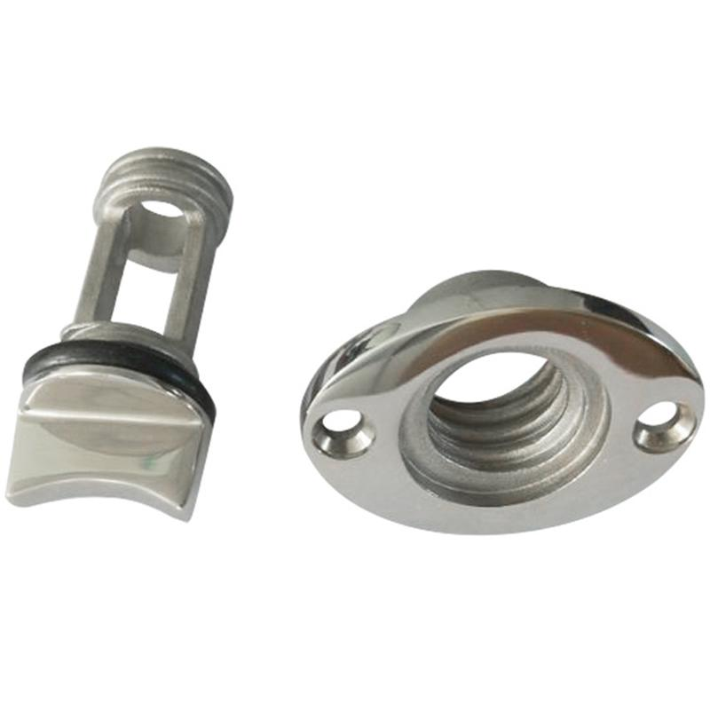 2PCS Stainless Steel Garboard Drain Plug for Boats Fits 1 Inch Diameter Hole
