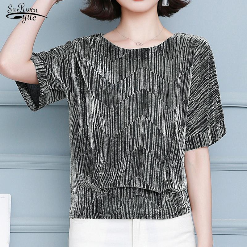 Womens Fashion Print Shirt Tops Office Casual Long Sleeve Blouse Size 14-18