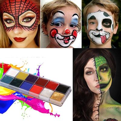 Oil Based 12 Colors Face Body Paint Oil Party Fancy Make Up Kit For Halloween Special Events Buy At A Low Prices On Joom E Commerce Platform