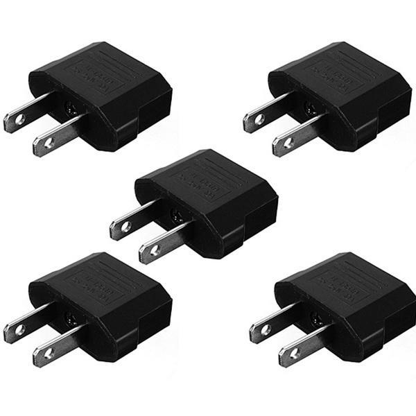 European EU to USA Travel Power Charger Adapter Plug Outlet`Converter