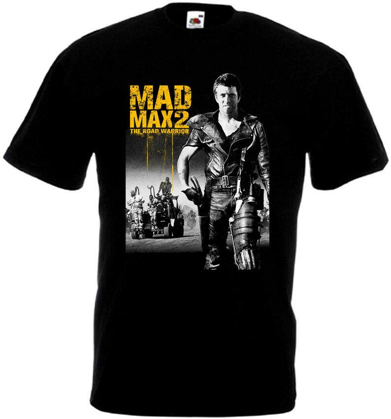 mens movie t shirts The Road Warrior Mad Max Cool 80s T Shirt Black
