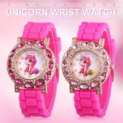 Children Watch Fashion Cute Pink Unicorn Girl's Watch Kids Casual Quartz Wrist Watch Christmas Gift