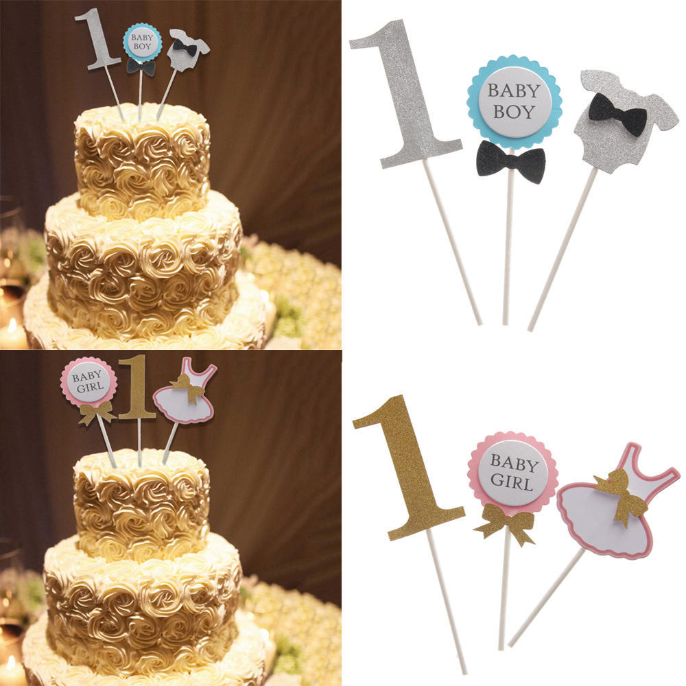 Baby Boy 1st Birthday Cake Toppers