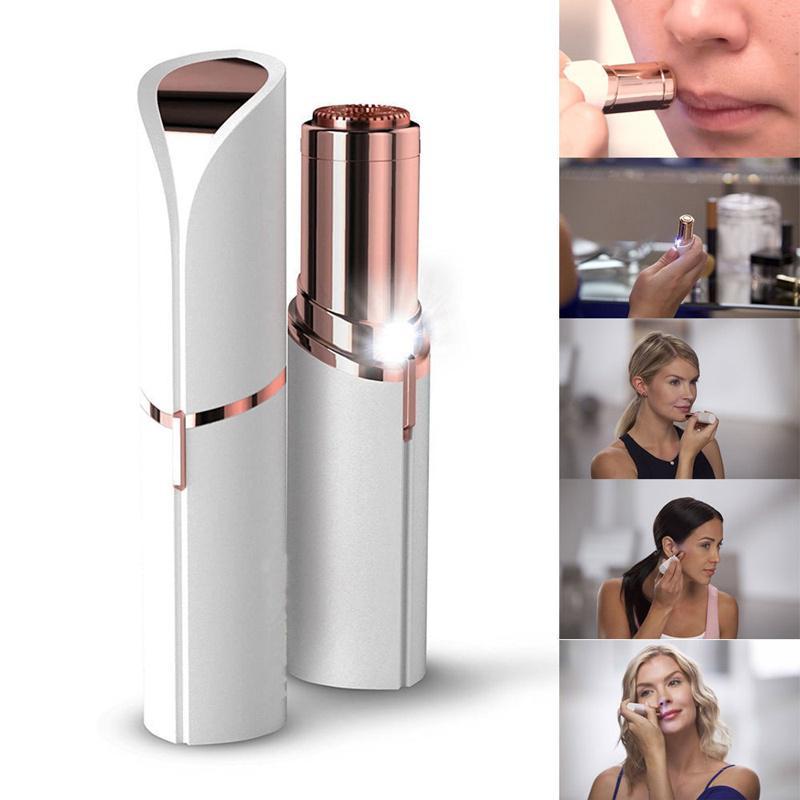 Afeitadora eléctrica de Lady lápiz labial Mini afeitadora cara ... 4978d5e6e85d