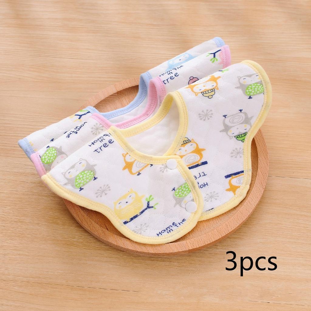Baby Cute Cartoon Bibs 360° Rotation Feeding Saliva Towel Dribble Cotton Bib Z