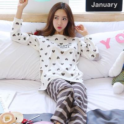 9e9b84cf63 Lindas pijamas de la mujer conjunto ropa de dormir pantalones Animal hembra  de la historieta de