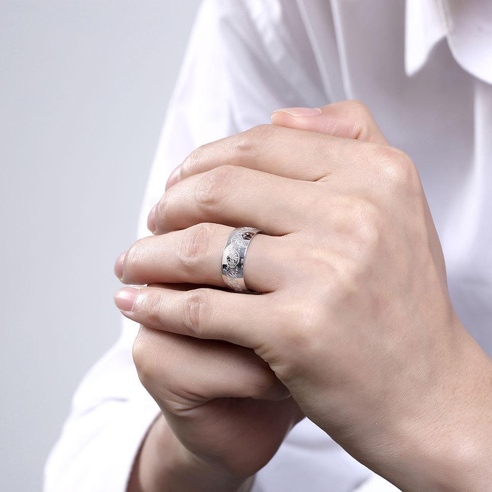 2018 Fashion Elegant Cubic Zirconia Blue Sapphire Engagement Wedding ...