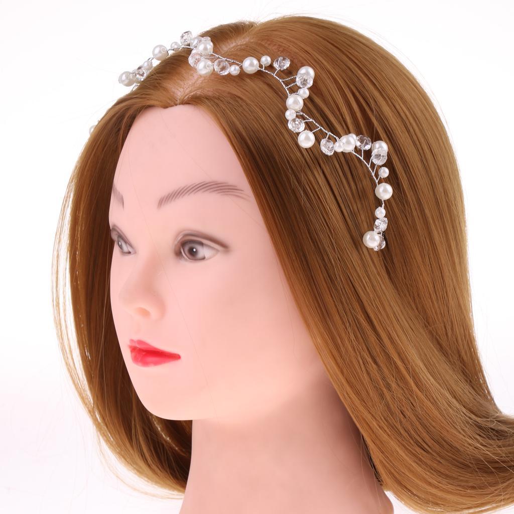 Perlas de novia delicado cristal ondulado casco accesorios para el ...