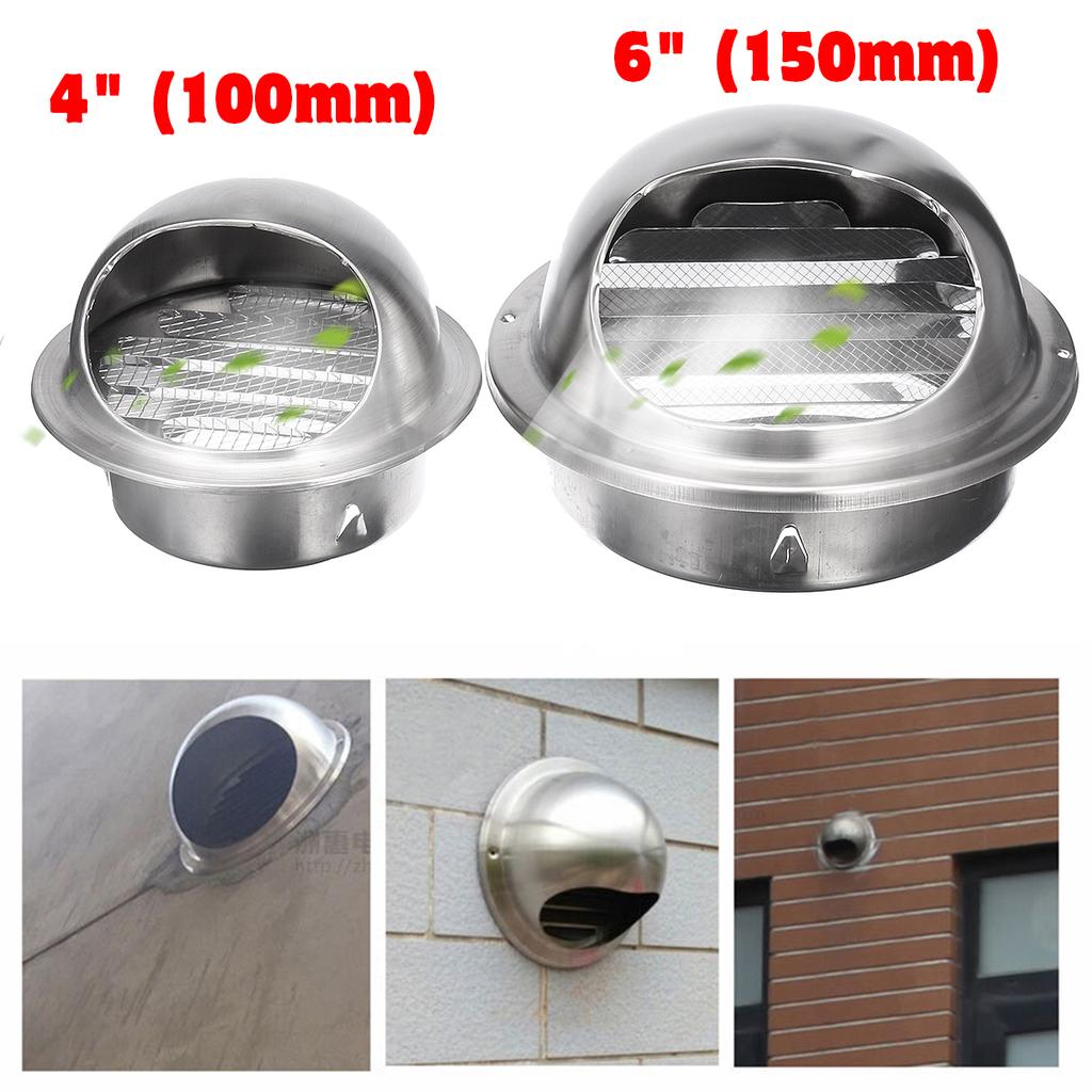 Stainless Steel Wall Air Vent Ducting Ventilation Exhaust Grille Outlet Cover