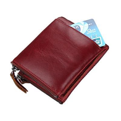 f03139cb27d5b Nowy projekt krótki mini portfel Prawdziwy skórzany portfel męski dla  mężczyzn Torebka męski kowboj podwójny zamek
