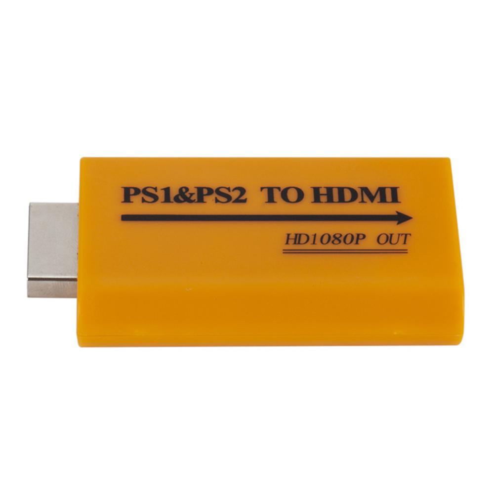 PS1 to HDMI,PS2 to HDMI Converter with 3.5mm Headphone Audio Jack for PS1 PS2 HDTV HDMI Monitor Support All PS1 /& PS2 Display Modes Support 720p or 1080p Output