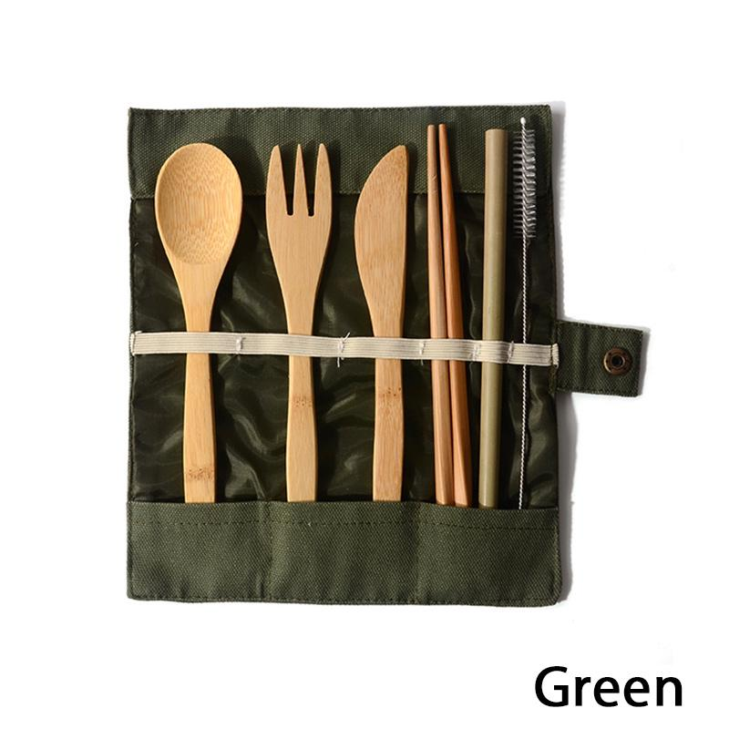 NEW 3X Chopstick Fork Spoon Stainless Steel Zipped Bag Cutlery Set Travel Picnic