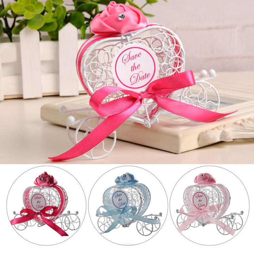 1pc New Candy Boxes Romantic Carriage Sweets Chocolate Box Wedding ...