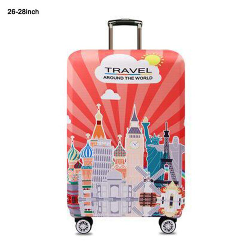 Luggage cover Thickened Elastic Travel Luggage Cover Elastic 3D Print Design Suitcase Protector Fit For 18-32 Inch Luggage Travel Luggage Sleeve Protector 22-24 Color : Little girl , Size : M