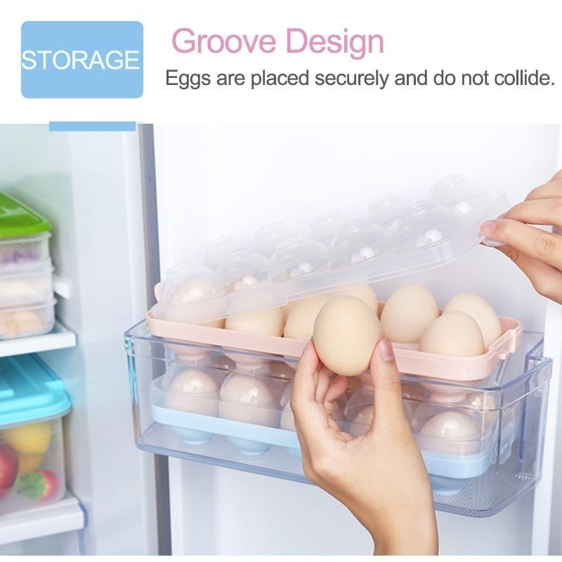 Egg Holder Tray Storage Refrigerator Fridge Eggs Box Case Container Plastic Box