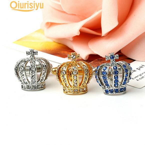 Hot VINTAGE oro tono Boda Fiesta Regalo Camisa Gemelos Gemelos de diamantes de imitación