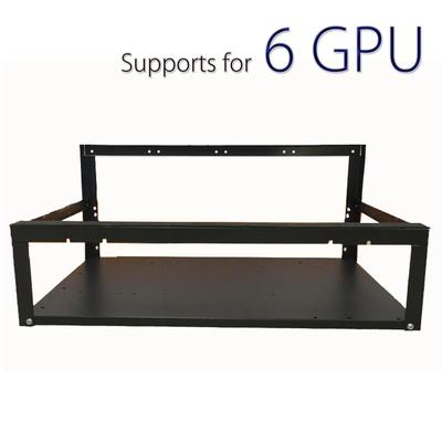6 gpu open air case for cryptocurrency mining rig frame